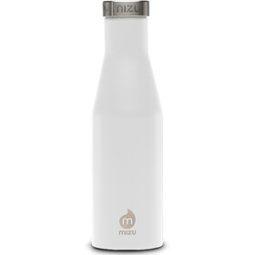 MIZU S4 Isolierte Flasche with Stainless Steel Cap 400ml enduro white